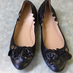 Tory Burch black leather ballet flats